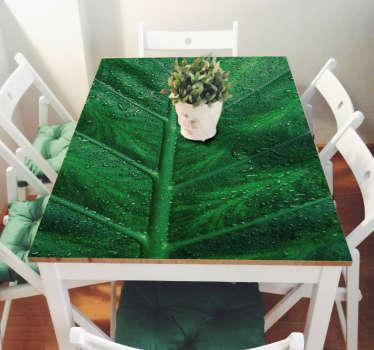 Adesivo tavolo Ikea linnmon texture foglia