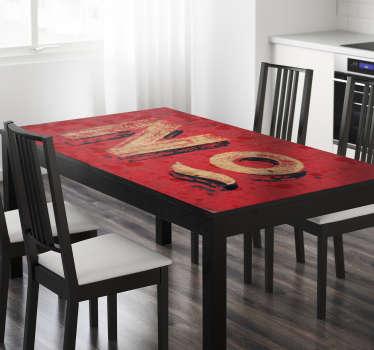 Klistermærke Ikea bordtekstur, nummer