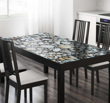 Klistermærke Ikea, bordtekstur småsten