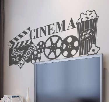 Vinil autocolante cinema vintage