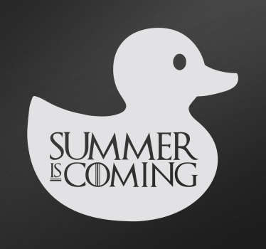 "TV Shows sticker with the phrase ""summer is coming"" in English, based on the famous ""Winter is coming"" from Game of Thrones."