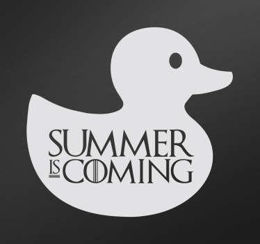Adesivo decorativo summer is coming