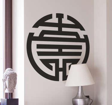 Naklejka na ścianę z chińskim symbolem