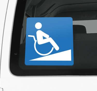 轮椅坡道标志贴纸