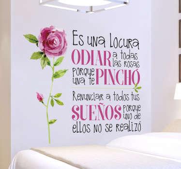 Vinilo pared original con frases del Principito, tu cuento para niños favorito de siempre, en este caso con un diseño exclusivo y elegante.