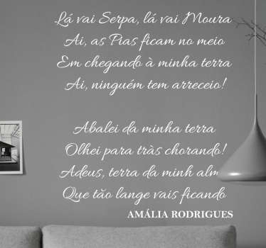 Vinil Fado de Amália Rodrigues. Decora a tua casa com este vinil autocolante de Amália Rodrigues por um preço apelativo.