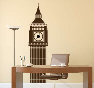 The Big Ben wall decal is a wonderful decorative vinyl. The London wall sticker is recognised all around the world as one of the famous UK landmarks.