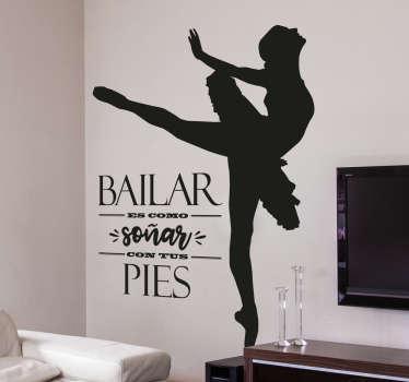 Vinilos danza con diseño original y elegante, ideales para decorar las paredes de tu casa o para motivar a las alumnas de una academia de baile.