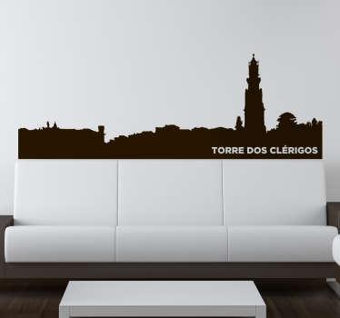 Autocolante skyline Torre dos Clérigos