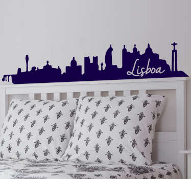 Check out our gorgeous skyline wall decal of Lisbon that you can get in over 45 colors. The product size is customizable.