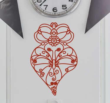 Vinilo decorativo con diseño original y exclusivo que muestra la ilustración de un corazón de Viana.