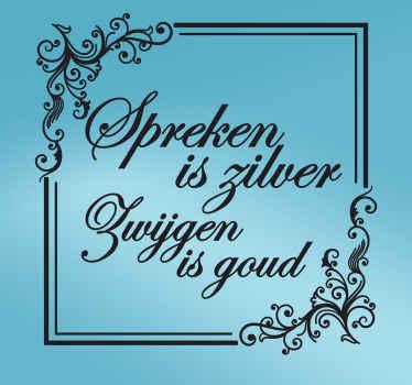 Muursticker zilver goud