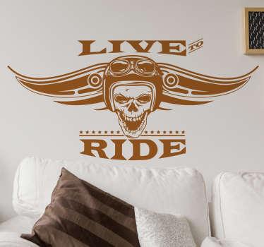 Naklejka motocyklowa Live to Ride