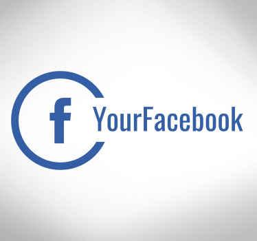 Adesivo para vidro personalizado do Facebook