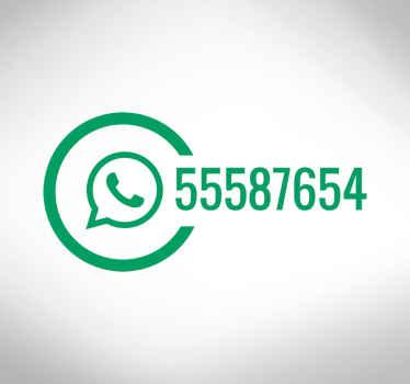 Whatsapp affärer fönster klistermärke