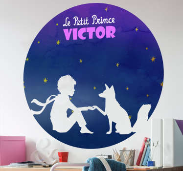 Is your child a fan of the Little Prince? This customizable fairy tale sticker is made to transport your kid to the world of this character.