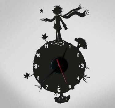 Naklejka zegar - Mały Książę