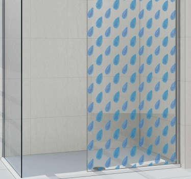 badkamer sticker regendruppels