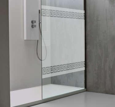 希腊模式淋浴贴纸