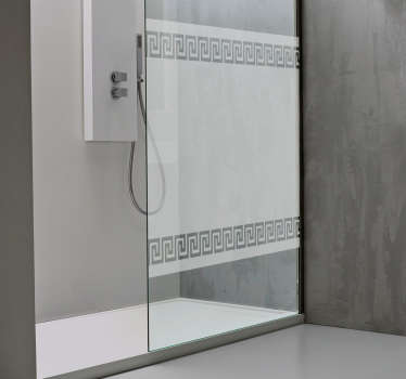 Grekisk mönster duschklistermärke