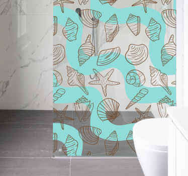 If you're looking for the perfect cheap, easy and stylish way to decorate your bathroom, look no further than this beach themed shower sticker!
