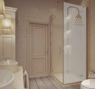 Autocolante decorativo duche