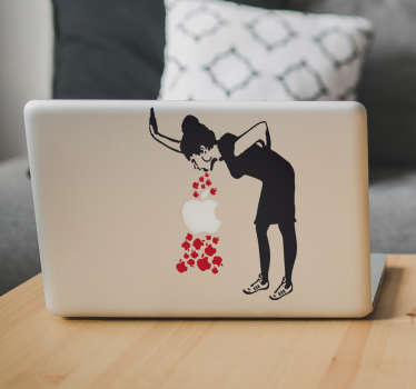 Sticker ordinateur Banksy Lovesick