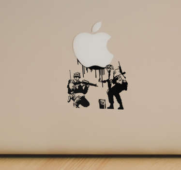 Sticker ordinateur Banksy militaires