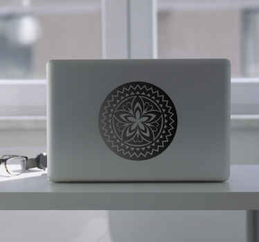 Give your computer a touch of sobriety and elegance with this laptop sticker of a Buddhist symbol for meditation, the Mandala.