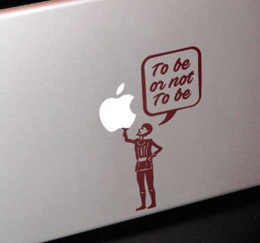 Naklejka na laptopa - Cytat Szekspira