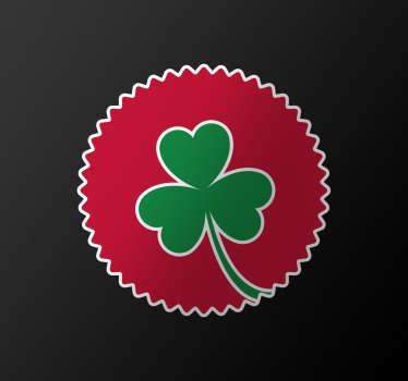 Autocolante bandera portuguesa trevo