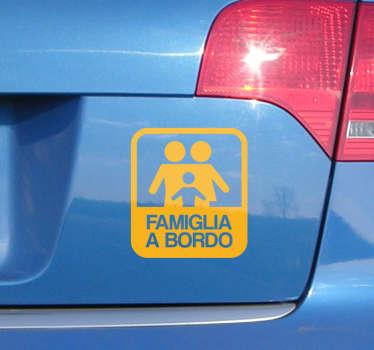 Adesivo famiglia a bordo