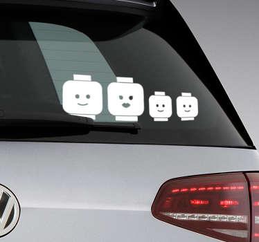 Sticker familia lego para coche