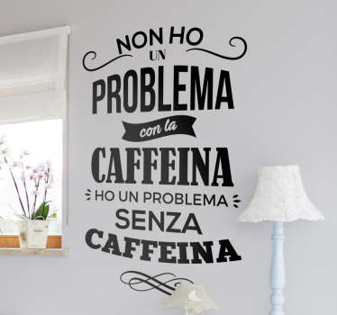 Adesivo problema cafeina