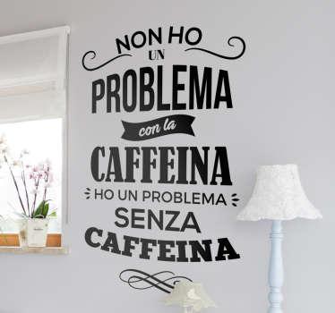 Adesivo problema caffeina