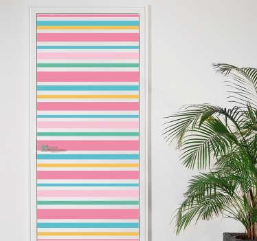 Naklejka na drzwi - Kolorowe paski
