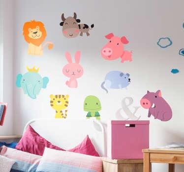 Naklejki dla dzieci - kolorowe zwierzęta