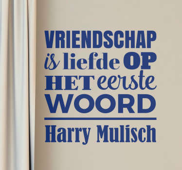 Muursticker Harry Mulisch