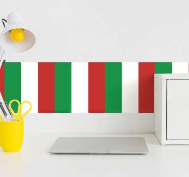 Vous êtes Italiens et êtes fier de l'être? Montrez-le en décorant votre maison de ce sticker original d'une frise aux couleurs de l'Italie.