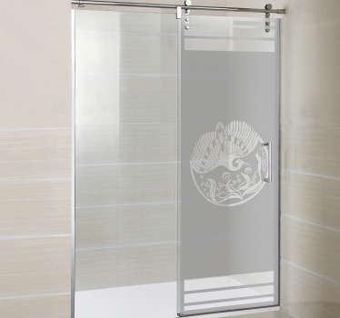 Naklejka na prysznic - Artystyczny Feniks