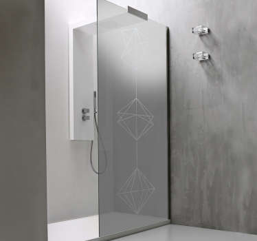 Vinilo para ducha geometría abstracta