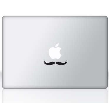 Sticker ordinateur moustache française