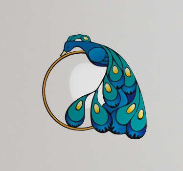 Adesivo per pc pavone Art Nouveau
