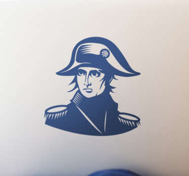 Take a look at our gorgeous laptop sticker that has Napoleon on it and is available in over 45 colors.  The product is anti-bubble vinyl.