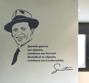 Vinil citação Frank Sinatra
