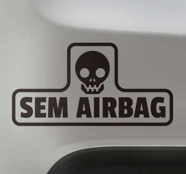 Vinil Autocolante Sem Airbag