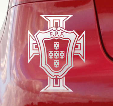 Car vinyl sticker of Portuguese football federation  to decorate any vehicle surface. The product is available in any size required.