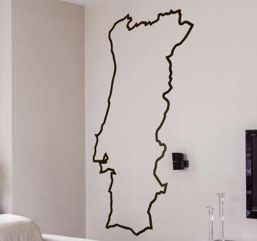 Naklejka - Mapa konturowa Portugalii