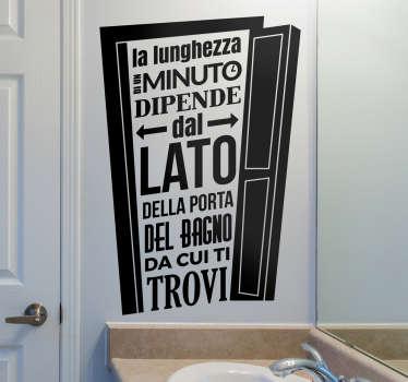 Adesivo lato della porta del bagno