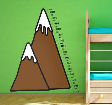 Bjergtop højdemåler wallsticker